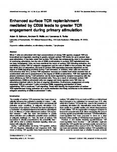 Enhanced surface TCR replenishment mediated by CD28 leads to ...