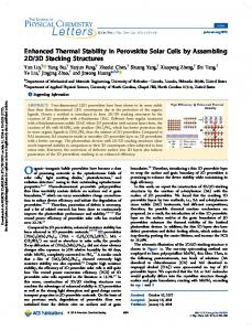Enhanced Thermal Stability in Perovskite Solar Cells