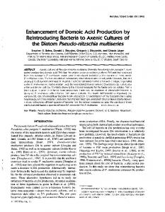 Enhancement of Domoic Acid Production by Reintroducing Bacteria to
