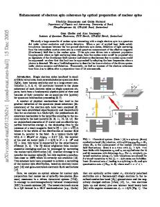 Enhancement of electron spin coherence by optical preparation of ...