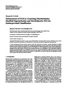 Enhancement of ELM by Clustering Discrimination Manifold ...