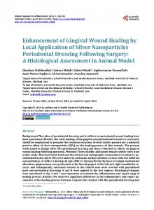 Enhancement of Gingival Wound Healing by Local Application of ...