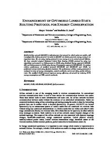 enhancement of optimized linked state routing protocol for energy ...