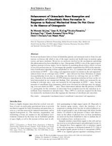 Enhancement of Osteoclastic Bone Resorption and ... - BioMedSearch