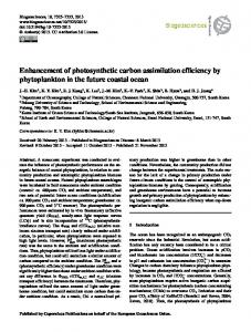 Enhancement of photosynthetic carbon assimilation ... - Biogeosciences