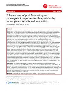 Enhancement of proinflammatory and procoagulant responses to ...