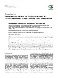 Enhancement of Surfactin and Fengycin Production by Bacillus