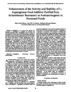 Enhancement of the Activity and Stability of L- Asparaginase Food ...