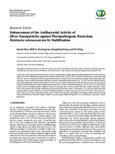 Enhancement of the Antibacterial Activity of Silver Nanoparticles ...
