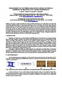 enhancement of the power radiated by a dipole antenna ... - CiteSeerX