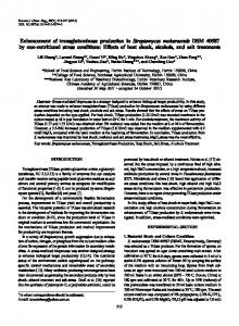 Enhancement of transglutaminase production in ... - Springer Link