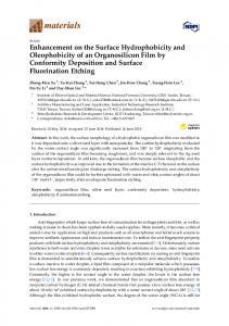 Enhancement on the Surface Hydrophobicity and ... - MDPI