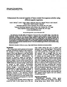 Enhancement the removal capacity of heavy metals