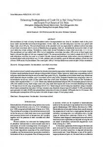 Enhancing Biodegradation of Crude Oil in Soil Using Fertilizer and