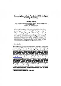 Enhancing Conventional Web Content With ... - OpenClinical.org