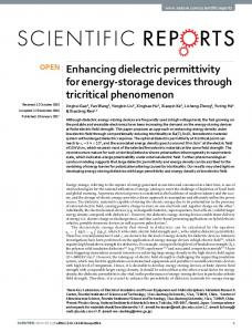Enhancing dielectric permittivity for energy-storage
