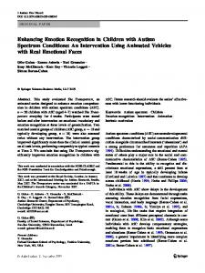 Enhancing Emotion Recognition in Children with ... - The Transporters