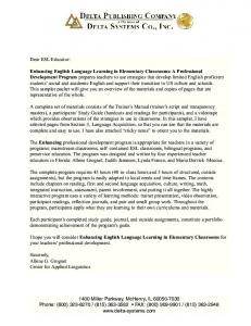 Enhancing English Language Learning in Elementary Classrooms