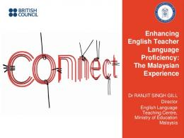 Enhancing English Teacher Language Proficiency ... - British Council