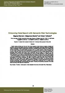 Enhancing Hotel Search with Semantic Web Technologies - Journal of ...