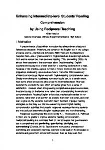 Enhancing Intermediate-level Students' Reading Comprehension