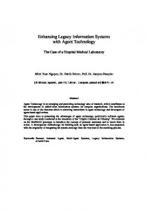 Enhancing Legacy Information Systems with Agent Technology