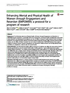 Enhancing Mental and Physical Health of Women