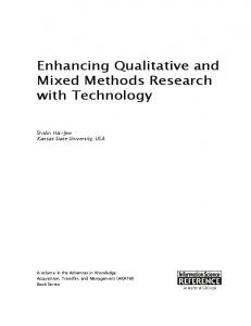 Enhancing Qualitative and Mixed Methods Research ...