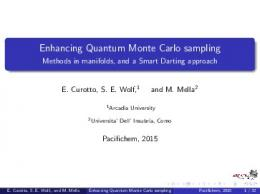 Enhancing Quantum Monte Carlo sampling - Methods ...