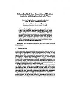 Enhancing Real-time Scheduling of Divisible Loads by ... - UNL CSE