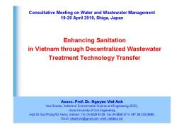 Enhancing Sanitation in Vietnam through Decentralized Wastewater ...