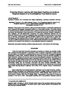 Enhancing Student Learning with Case-Based Teaching and ... - Eric