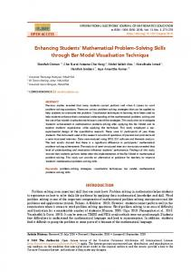 Enhancing Students' Mathematical Problem-Solving Skills through Bar