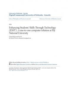 Enhancing Students' Skills Through Technology - DigitalCommons ...