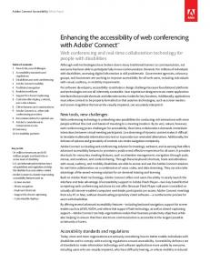 Enhancing the accessibility of web conferencing