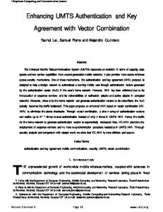 Enhancing UMTS Authentication and Key Agreement with Vector ...