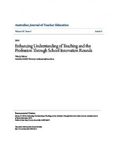 Enhancing Understanding of Teaching and the Profession ... - Eric