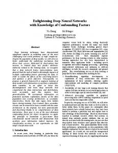 Enlightening Deep Neural Networks with Knowledge - arXiv