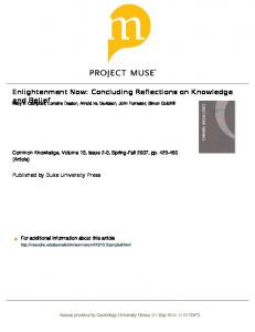 Enlightenment Now: Concluding Reflections on ...