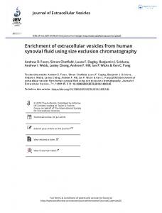 Enrichment of extracellular vesicles from human ...