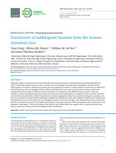 Enrichment of sulfidogenic bacteria from the human intestinal tract