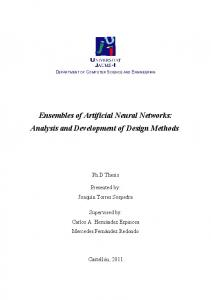 Ensembles of Artificial Neural Networks: Analysis and
