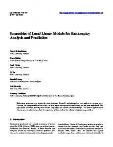 Ensembles of Local Linear Models for Bankruptcy Analysis and ...