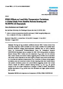 ENSO Effects on Land Skin Temperature ... - Semantic Scholar