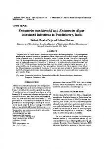 Entamoeba moshkovskii and Entamoeba dispar- associated Infections ...