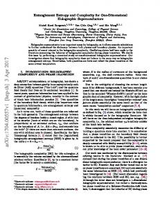 Entanglement Entropy and Complexity for One-Dimensional ...