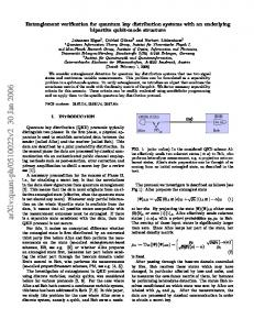 Entanglement verification for quantum key distribution systems with an ...