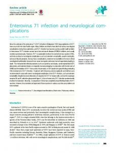 Enterovirus 71 infection and neurological com ... - KoreaMed Synapse