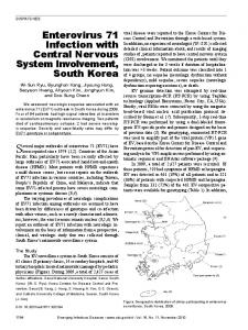 Enterovirus 71 Infection with Central Nervous System Involvement ...