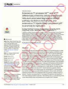 Enterovirus 71 protease 2Apro and 3Cpro